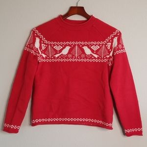 Hanna Andersson Women's Red White Holiday Sweater